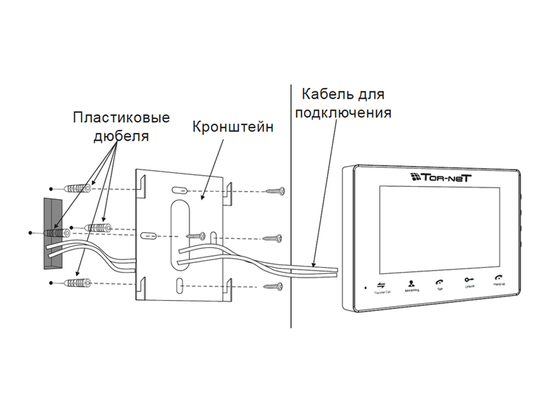 TR-29M B: Схема установки