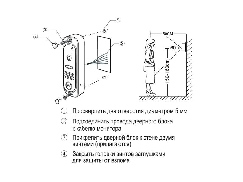 DVC-412C: Схема установки