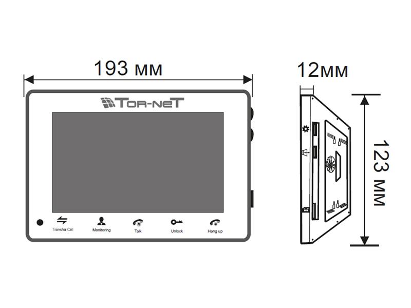 TR-29 IP W: Габаритные размеры