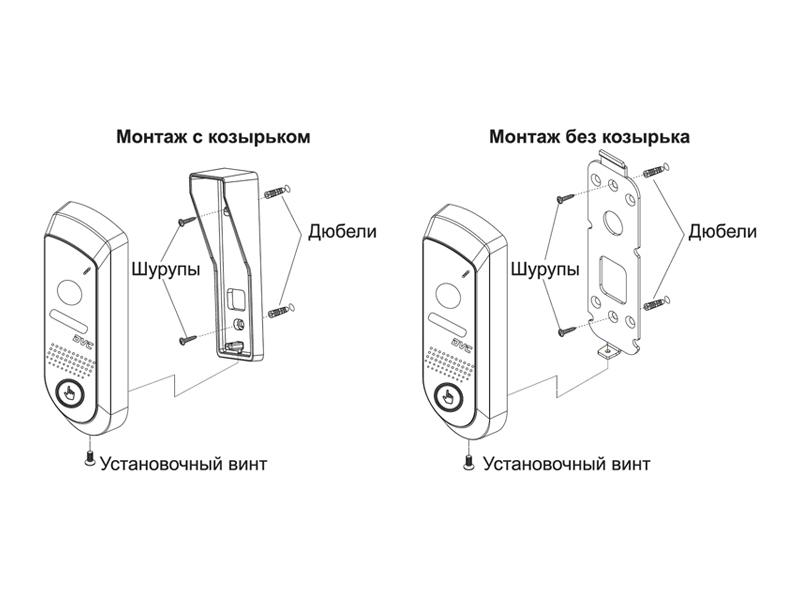 DVC-644C: Схема установки